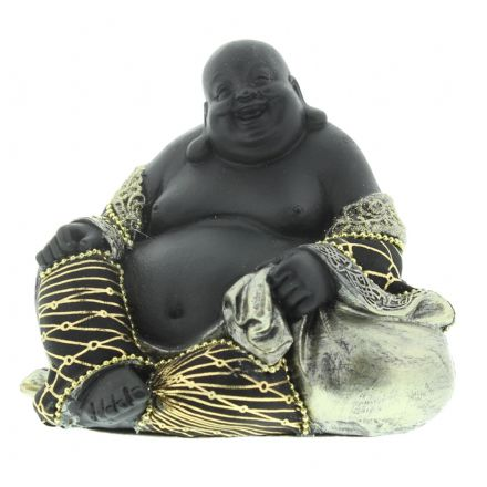 Black & Gold Buddha Figurine Sitting